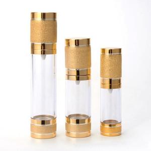 Новый 15мл 30мл 50mlGold Косметические безвоздушного насоса бутылки Портативный Refillable насос дозатор бутылки для лосьон безвоздушного Cosmetic контейнер