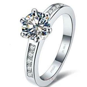 Envío gratis Fine Wholesale - Certificado de GIA de los EE. UU. 1kct, Auténtico Sono Diamond Ring 18k Gold-chapado en alto Simulación Simulación Diamante Blanco