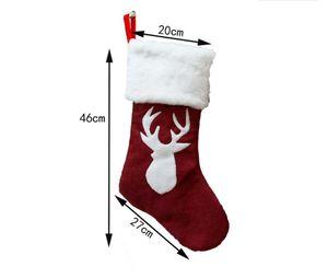 Natal meias dom saco kenaf alces bordados de Natal meias de presentes do feriado do Natal pingentes melhor venda quentes do estilo