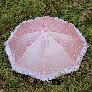야다 휴대용 헤드 우산 모자 낚시 모자 도트 레이스 우산 스포츠 총액 여자 아기가 태어난 인형 수제 야외 우산 Yd153 qylRfE