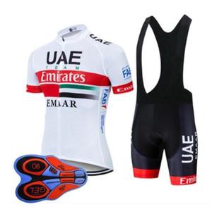 EAU équipe 2019 hommes maillot cyclisme VTT vêtements de vélo vélo chemise Cuissards costume été sport vêtements de course respirant de fengoutd uniforme
