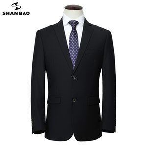 Shan Bao Oversized Men's Business Casual Gentleman Suit Chaqueta 2020 Otoño Nuevo Boda Banquete Marca Traje Jacket LJ201223