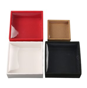 Kraft Cardboard Packaging Box Lid Gift Packing Case with Clear PVC Window Jewelry Paper Boxe