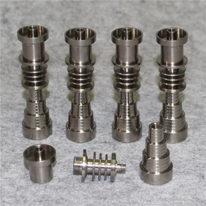 Domeless Titanium Nail Universal Titanium GR2 Nails Joint 10mm 14mm 18mm Male To Female For Dab Rig Glass Water Bong
