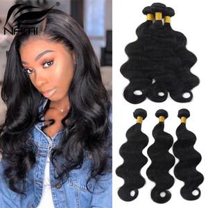 Nami cabelo brasileiro cabelo liso tece onda corporal onda profunda Kinky encaracolado 100% extensões de cabelo humano cor natural