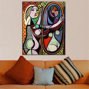 Pablo Picasso NIÑA beore UN ESPEJO Hogar del estado de la decoración de pintura al óleo sobre lienzo de arte cuadros de la pared de lona 201008