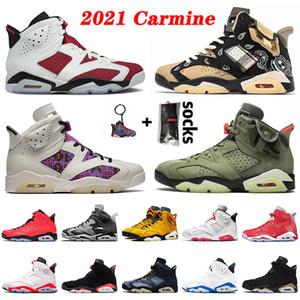 Новое Качество Jumpman 6 6S Мужские Женщины Баскетбольные Обувь 2021 Кармин Кактус Jack DMP Quai 54 Дым Серый Черный Инфракрасные кроссовки 36-47
