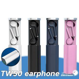 Headset Wireless Air Tw50 Bluetooth 5 .0 Headphones Tws Earbuds Colorful Design Pods Hifi Sound Summon Siri Earphone