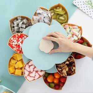 Creative Petal Candy Box Snack Box Box de almacenamiento Tabla de sala de estar Melón Placa de semillas de rotación de la placa de la caja Organizador de escritorio del hogar1