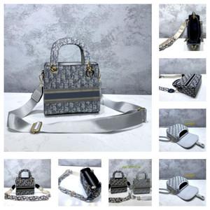 Dior handbag CD bag Лучшей оптовой роскошь DISCONT мешка плеча дама холст вышивка женщины сумка письмо девушка маленького размер квадратного мешок 19 * 9 * 17 см DISCONT