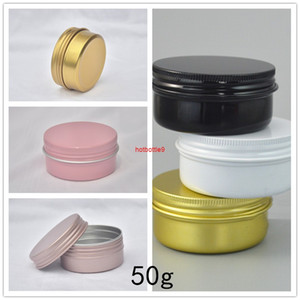 50G Face Body Moisturizing Cream Metal Cans DIY Handmade Scented Candles 50ml Flowers Tea Coffee Dried Fruit Seal Storage Tinspls order