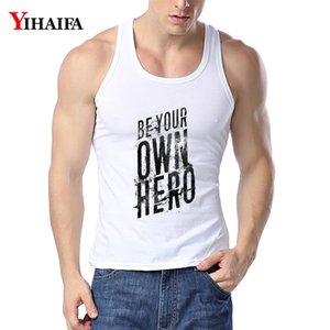 YIHAIFA MENS GYM ROPS LETTERS IMPRESIONADA SINGLET CHOREBUILDING TANK TIP HOMBRES HOMBRES FITNESS Camisa sin mangas Chaleco T200706