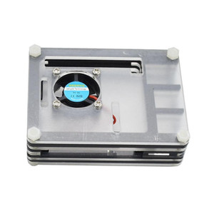 pour Raspberry Pi 4 Modèle B Acrylic Case avec ventilateur de refroidissement pour Raspberry Pi 4