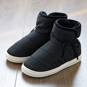 Women's Winter Waterproof Snow Boots Women Cotton Slip On Indoor Shoes Woman Anti-dirty Ankle Female Rain Unisex Boots 201021