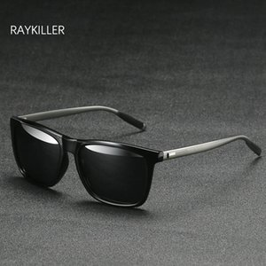 RAYKILLER ساحة نظارات شمس رجل عدسة الاستقطاب مرآة النظارات UV400 في الهواء الطلق نظارات للنساء لتعليم قيادة السيارات مع حالة