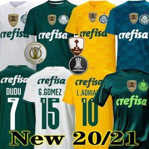 Top Quality 20 21 Palmeiras Futebol Jersey Home Green Dudo G.Jesus Jean Alecsandro 2020 Palmeiras Ausente Allione Cleiton Xavier Football Shirts