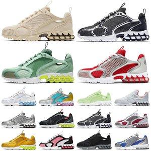 حذاء الجريnike stussy air zoom spiridon cage 2 Kukini  Pure Platinum Lemon Venom des chaussures أحذية رياضية للرجال والنساء