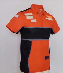 2021 Fórmula Hot One Traje de carreras Camiseta de manga corta Traje de equipo Cuello redondo Tee Factory Team Team Top Racing Traje personalizado