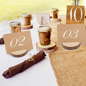 Personality Wedding Place Wooden Card Holder Solid Wood Card Frame Business Family Party Restaurant Decoration 1 Pack