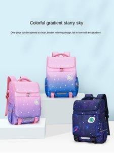 Star Primary School Schoolbag 1-3-6 Grade Boys and Girls Gradual Light Backpack Children's Schoolbag Wholesale