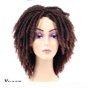 Yucan 6 بوصة قصيرة الاصطناعية Dreadlock فو Locs الباروكات 190G الكمبيوتر التضفير الكروشيه تويست الشعر شعر مستعار للنساء السود Dreadlock الباروكات