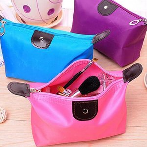 10 Color Dumpling Makeup Bag Solid Color Polyester Cosmetic Bag Around Soft Portable Korean Version Make Up