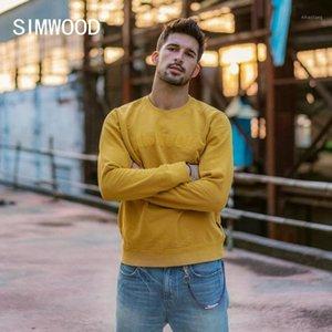 Simwood 100% Pamuk Patchwork Mektup Hoodies Erkekler Nedensel Kazak Kazak Moda Eşofman Artı Boyutu Hoodie 1904651