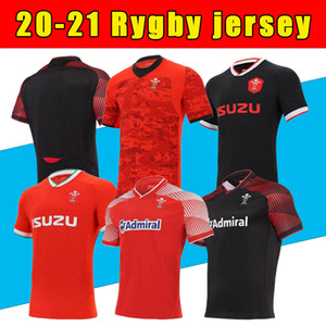 S-5XL 2020 2021 Galles Rugby National Team Jerseys Cymru Home Red Away uomo Polo T-Shirt Rugby Jesery