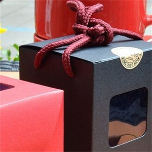 Quadrato Mini Gifts Boxes Finestra Kraft Paper Moda Caso Womens Ladies Packing Organizer Vintage Style Nuovo Arrivo 0 72MZ F2