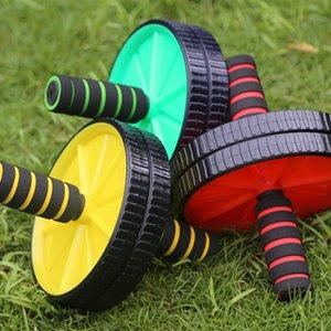 Новый двухколесный обновленный AB брюшной пресс-колесо колеса колеса CrossFit тренажерный зал Упражнение для корпуса Фитнес Y201011