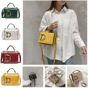 Fashion Letter Shoulder Bags Women Girls Handbag Rivet Designer PU Leather Crossbody Messager Bag Luxurys Handbags Outdoor Phone Pouch Xmas