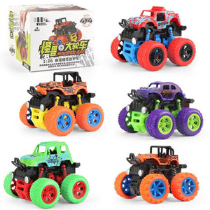 Childrens Toy New Four-wheel drive inertial off-road vehicle flip children's boy model car anti-falling stunt toy car gift
