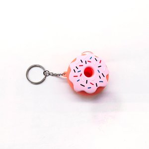Tobacco Ideas Pink Donut Silicone Pipe, Cut Tobacco Leaf Removable Colored Small Pipe Glass Pipe