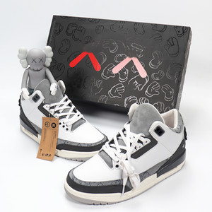 2020 new designer KAWS x 3 3s Fashion mans best Quality Men size 40-47 Basketball Shoes sneakers With Box