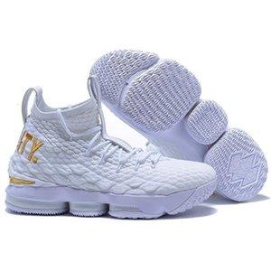 Rendimiento de alta calidad Kith Lebron 15 Cenizas Ghost niños de baloncesto del Mens 15s llegada de los zapatos James presenta las zapatillas de deporte Lbj A1a3