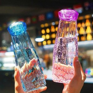 plastic Water Bottle Fashion Travel Mug Sport Water Bottles Camping Hiking Kettle Drink Cup Diamond Gift