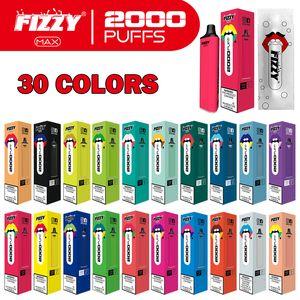 2021 Новое Прибытие Оригинальные одноразовые Vape Pen E Cigarette Fipey Max 2000 Puff E CIG Бесплатная Доставка