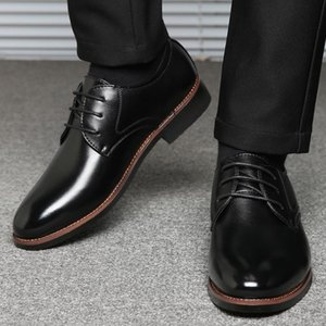 Nice Poply Men Quality Patent Leather Shoes Brown Wedding Shoes Size 38-57 Black Leather Soft Man Dress 7.11