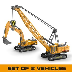 Crane Toy Construction автомобиль 1:50 Diecast Engineering Toys Truck Tractor High Simulation Boys Machine Model Toys для D12221