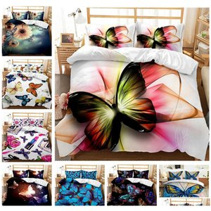 butterfly series bedding sets elegant king queen size quilt cover pillow case duvet bed 3d digital printing quilt cover kit cool 5yr73