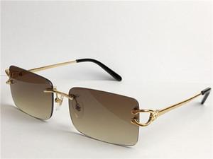 Vintage Güneş Gözlüğü Çerçevesiz Kare Küçük Çerçeve Retro Modern Avant-Garde Tasarım UV400 Gözlük 3645631