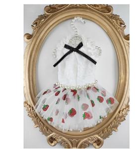 Custom Sweet Strawberry Pet Princess Dress Falda de perro Boda Primavera / Verano Estilo delgado