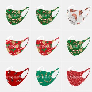 Designer Masques Visage de Noël MaskPrint S Coton Noël Lavable respirante de protection anti-poussière PM2,5 Masques de Noël # 492123143666 Activé Carbo