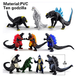 10Pcs set Gojira action figures ultraman dolls PVC figure toys collection modle Gomora Altman dinosaur gift
