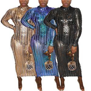 Womens Dresses 섹시한 hollow out 긴 소매 드레스 원피스 세트 bodycon 디자이너 럭셔리 풀오버 드레스 우아한 고품질 cubwear