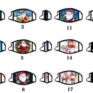 Анти-туманная маска Рождественский взрослый калико маска моющиеся хлопчатобумажные маски цвета рождественские рождественские мультфильм маска для лица партии маски мода дизайн FA
