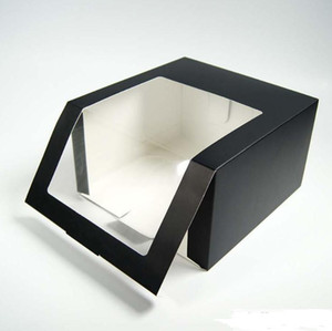 100pcs Paper Hat Box With PVC Window Baseball Cap Beret Party Hat Packing Boxes Gift Packaging Box SN3468