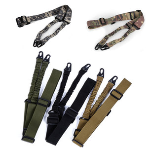 Outdoor Sports Army Hunting Rifle Shooting Paintball Gear Airsoft Strap Gun Lanyard Two Point Dual Point Tactical Sling P12-002