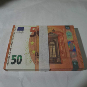 50 Education Identify Money Toys Euro Presents Billet Copy Stage Party Learning Faux Children Banknotes Prop Curre Pjrgo