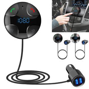 Auto FM Sender Bluetooth Car Kit Freisprecheinrichtung FM Transmitter A2DP Wireless MP3-Player USB-Ladegerät-Kit Dual USB-Autoladegerät